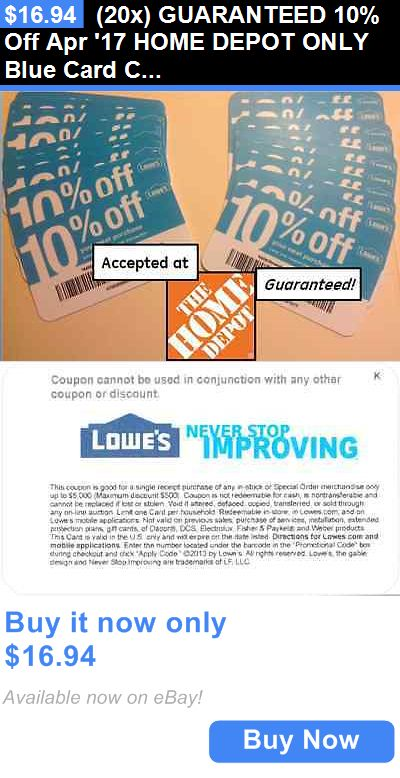 Lowes accept home depot coupons