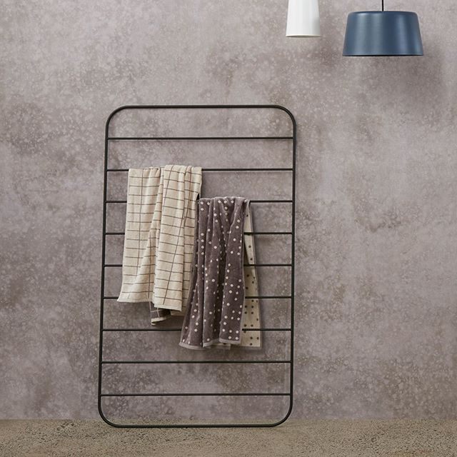 Ladders like this one from #citta can be used in summer when extra towels are needed for beach adventures #placesandgraces #curated #interiors for #creativeliving