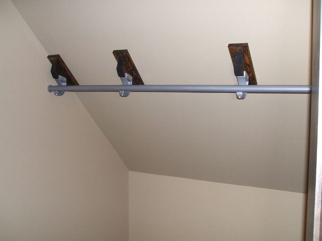 pipe rail sloped ceiling - Google Search