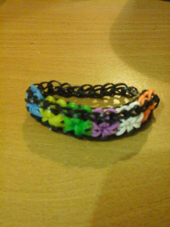 multicolored star-burst bracelet