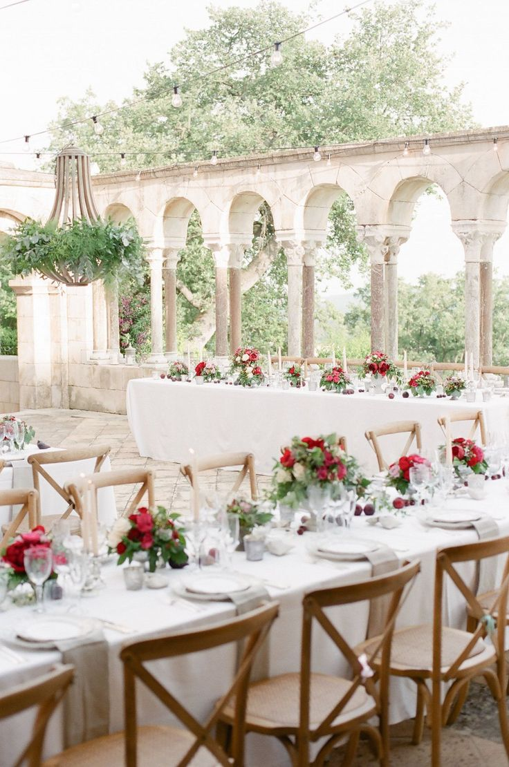Ryan and Cali's Classic Destination Wedding in Provence, France. Wedding reception. Table setting inspiration. Chateau wedding.