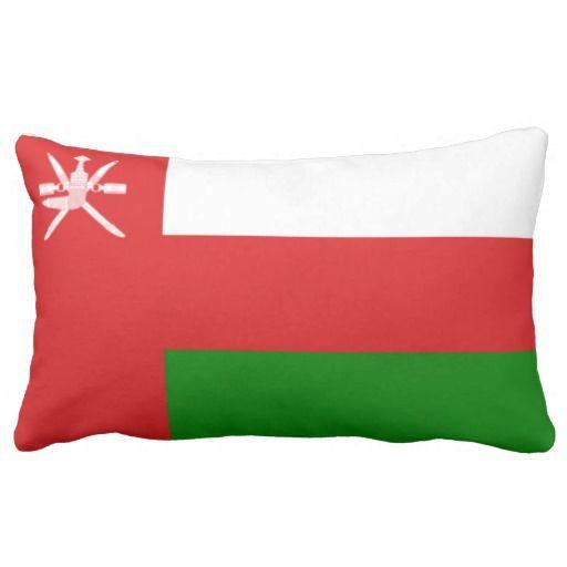 Flag Of Oman Throw Pillow