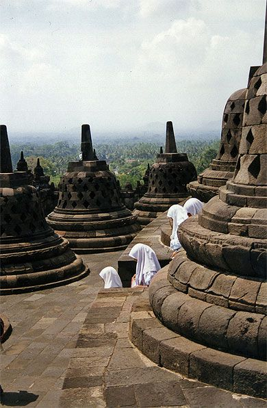 """""""Do not dwell in the past, do not dream of the future, concentrate the mind on the present moment."""" - Buddha -      Borobudur temple"""