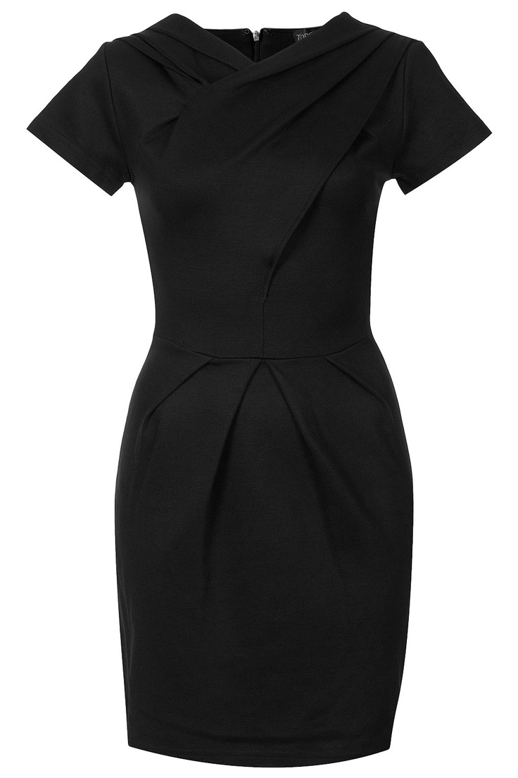 Wrap Front Pencil Dress / Top Shop