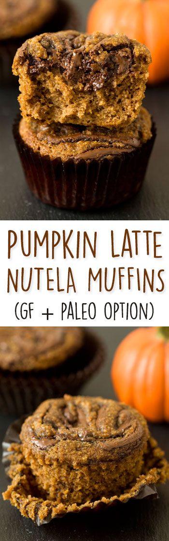 Pumpkin spice latte Nutella muffins {grain-free, gluten-free, with a dairy-free / paleo option}