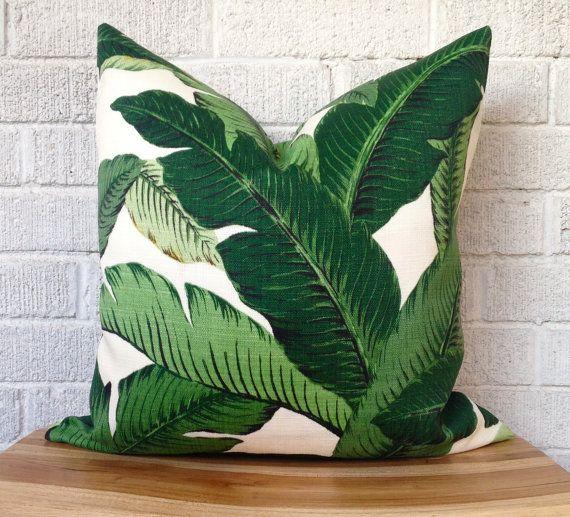 Balancement des palmiers coussins/couverture, feuille de bananier, Tropical, Bahama, Resort