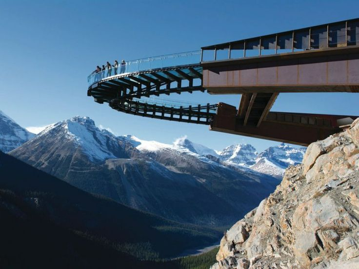 the Glacier Skywalk in the Canadian Rockies