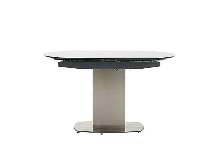 furniture village flow swivel glass extending table ultra modern