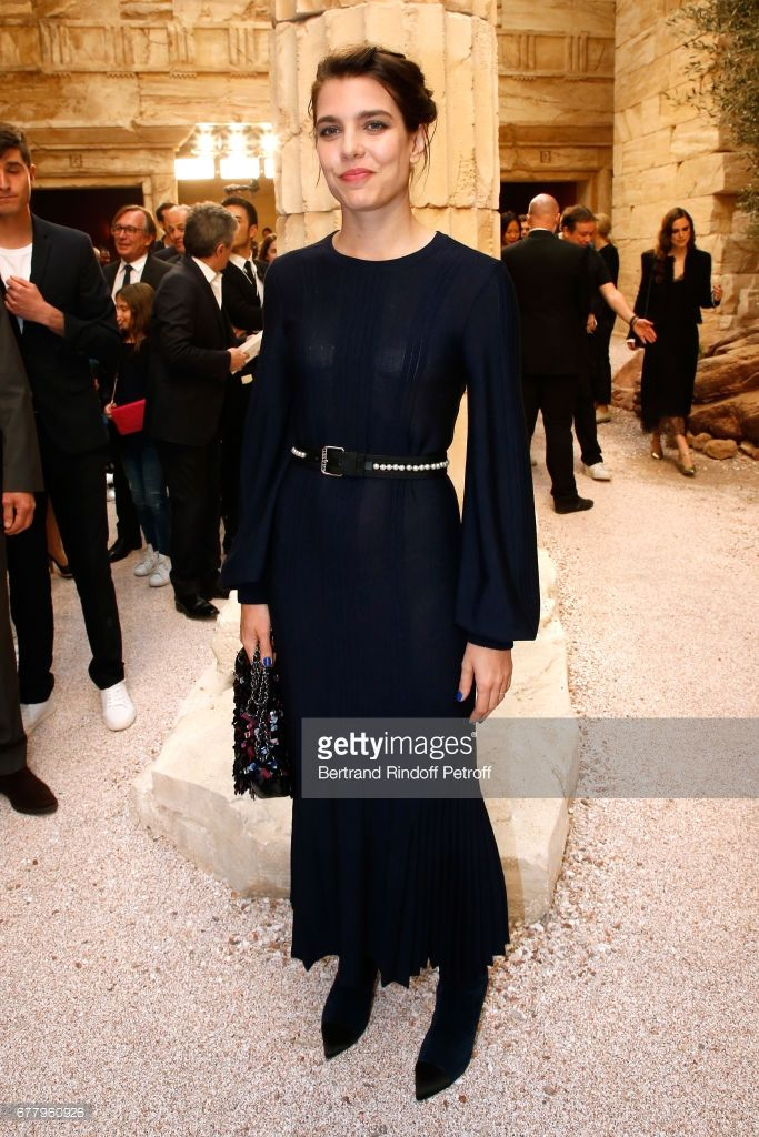 Charlotte Casiraghi attends the Chanel Cruise 2017/2018 Collection Show at Grand Palais on May 3, 2017 in Paris, France.