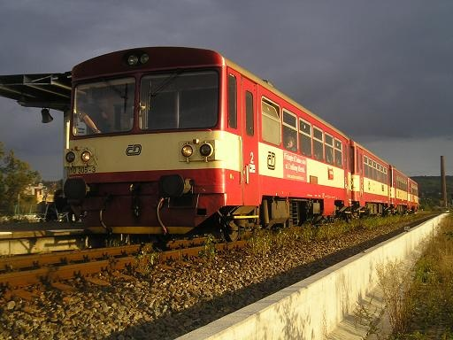 This Diesel train 810 It is the most used train in the regional transport CZECH rep.