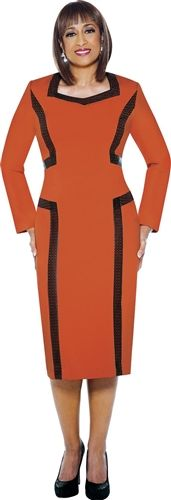 Burnt Orange Dress by Dorinda Clark Cole