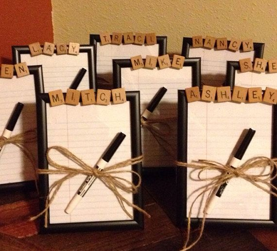 Employee Gifts, Dry Erase Board, CHOOSE ANY NAME or word, Scrabble Decor, teen gift, office party gift, coworker gift, secret santa gift