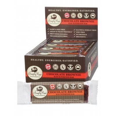 Simply Raw chocolate brownie bar   $4.95  www.redhotbodies.com.au