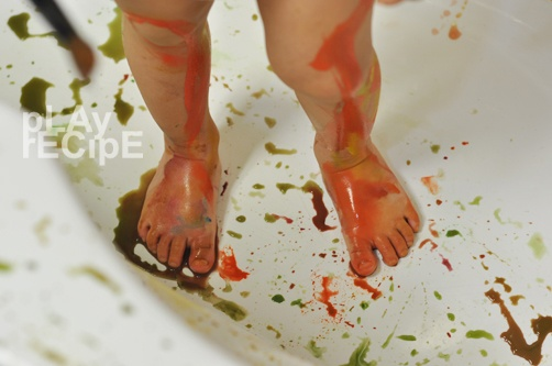 painting in the bathtub