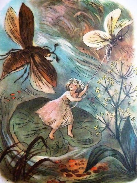 "Hans Christian Andersen, Baśnie, ""Calineczka"" Ilustracje: Jan Marcin Szancer"