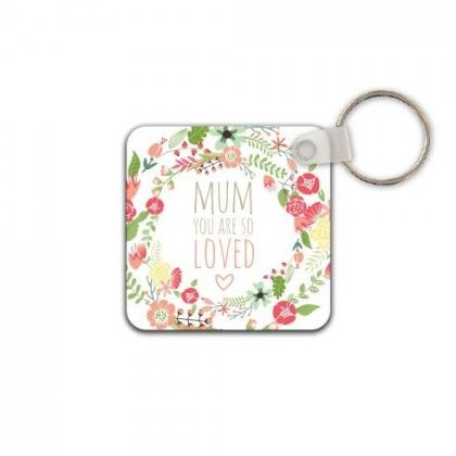 """""""Mum you are so loved"""" floral, typographic design. Bold, bursting with colour and perfect as a Mothers Day / Birthday / Surprise gift by orangeowl-co"""