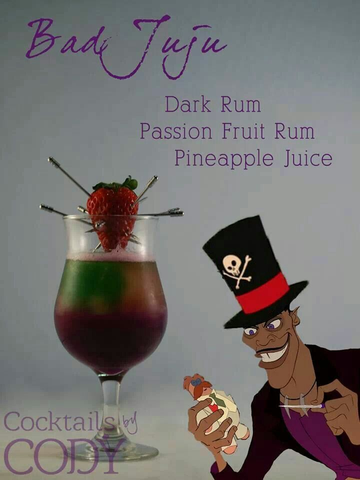 Disney drinks... For the adults. There will be more adults than children after all.