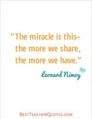 Teacher Inspirational Quotes, Leonard Nimoy