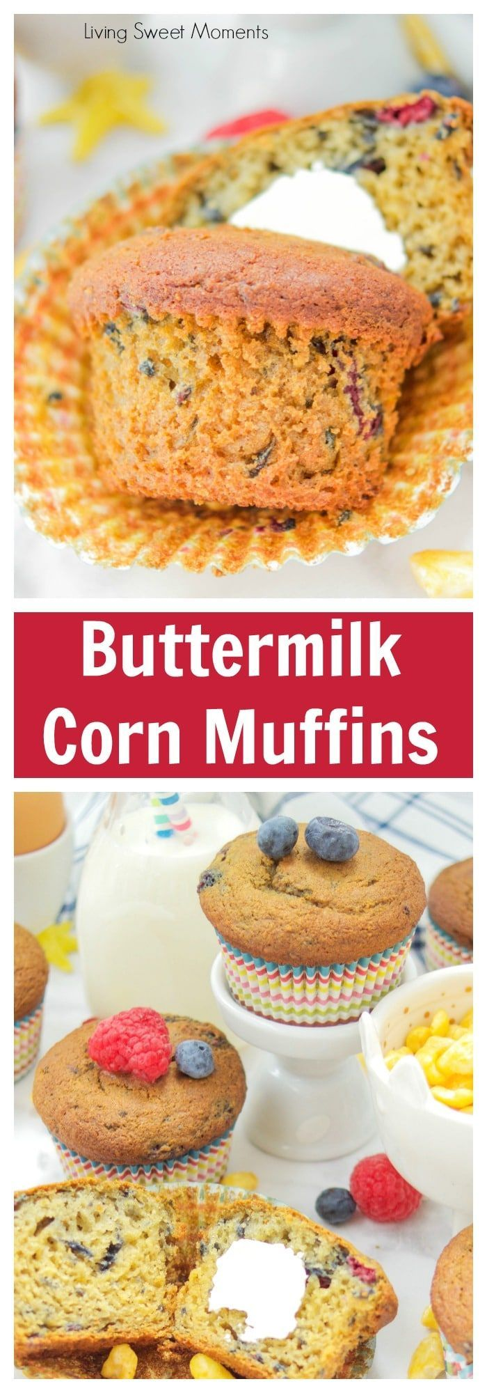 These Moist Buttermilk Corn Muffins are made with Kellogg's Corn Pops cereal to give it a distinct taste and sweetness. Perfect for breakfast & Snack time! More back to school recipes livingsweetmoments.com  via @Livingsmoments #ad #KelloggsBTS
