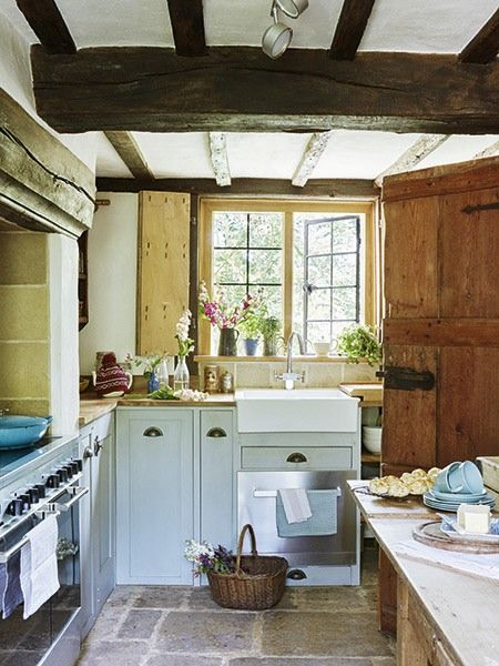 Kitchen In Renovated 17th Century Cottage English