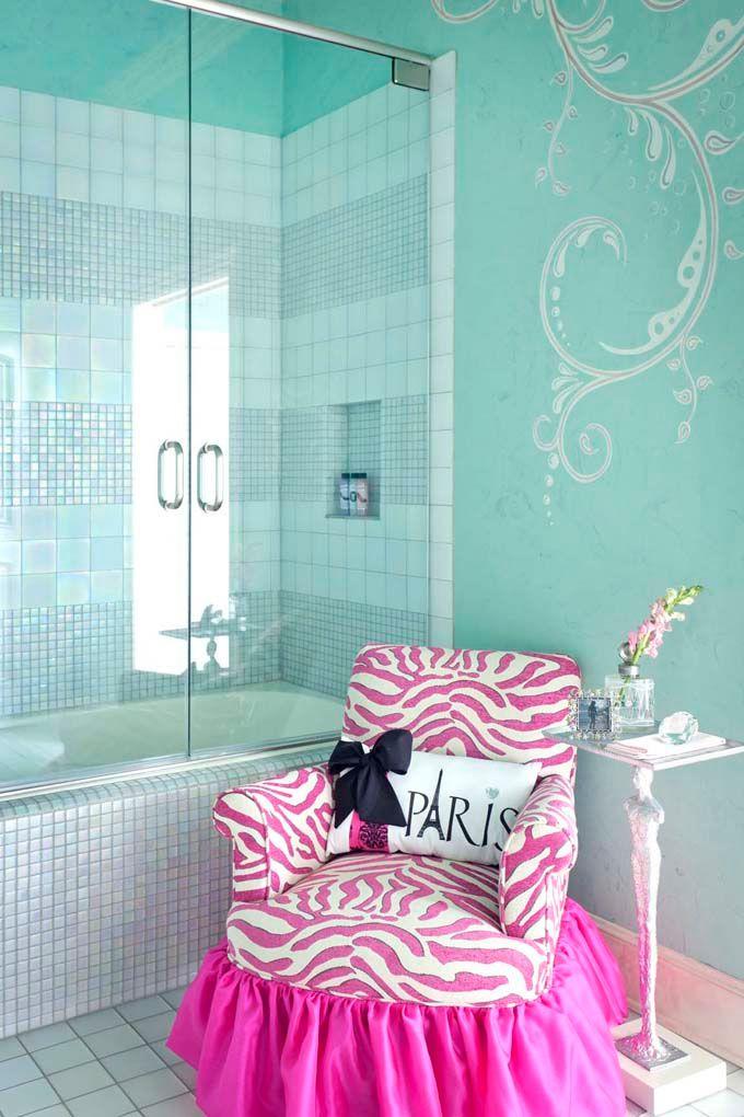 OMG....: Wall Colors, Teal Bathroom, Chairs, Dream House, Girls Bedroom, Shower, Bathroom Ideas