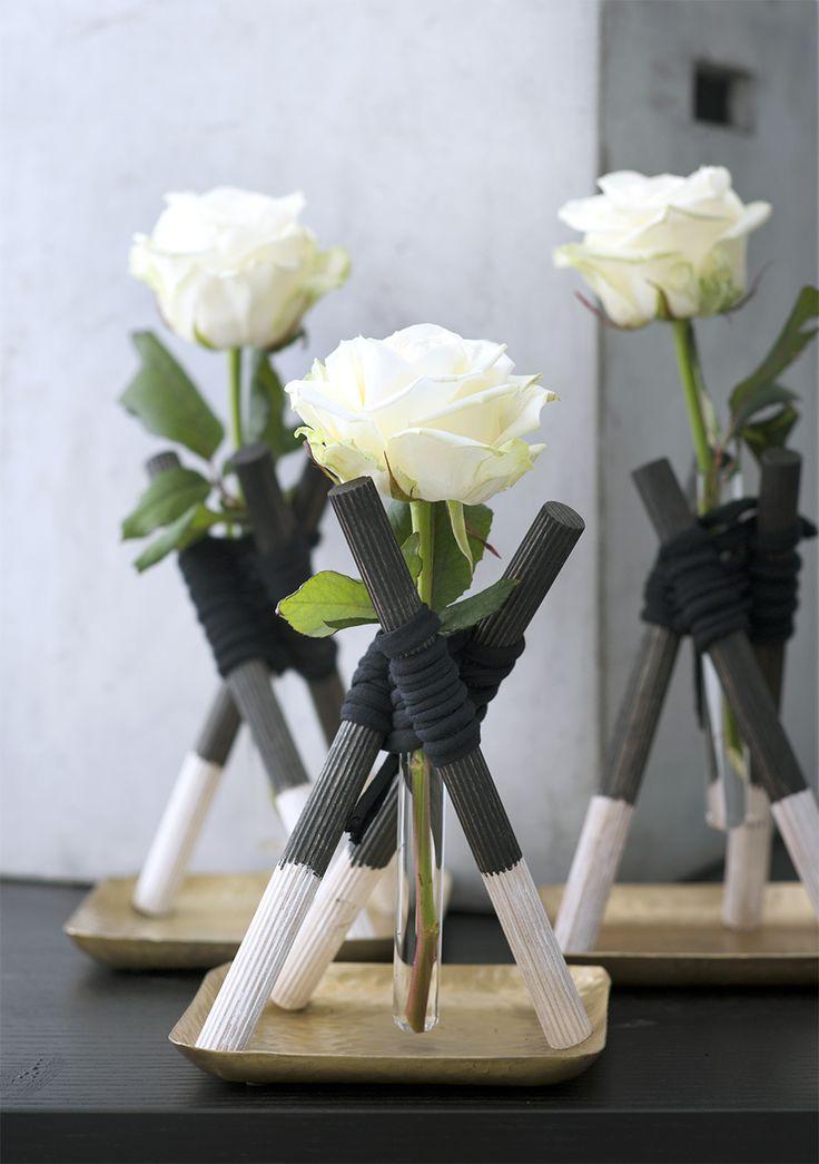 Lekker zelf maken, deze mini wigwam voor je roos