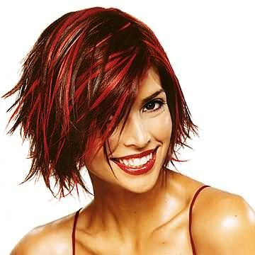 Matrix Redlights. Also I suppose, the youthful age to pull it off as well.: Hair Ideas, Hair Colors, Straight Hair, Red Hair, Hair Highlights, Hair Style, Funky Hair, Brown Hair, Red Highlights