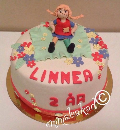 Pippi Longstocking cake Pippi Långstrump tårta