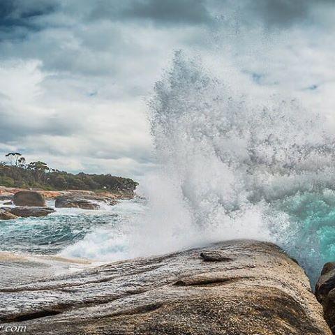 PHOTO: The blow hole in Bicheno, Tasmania, Australia.