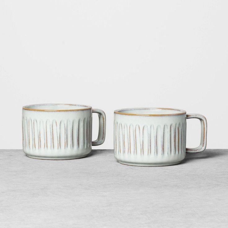 2pk Latte Mug Set Blue - Hearth & Hand™ With Magnolia ...