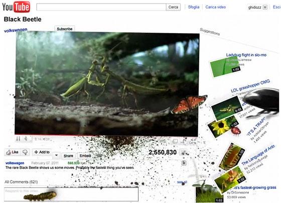 Volkswagen: gli animali sfuggono dal player. Fra l'altro anche il video in questione ha ricevuto veramente molto successo, potete vederlo qui http://www.youtube.com/watch?v=nXfKOfClEEA #youtube #youtubemarketing #youtubetips #youtubetakeover #graphic #design #youtubechannel #marketing #videomarketing