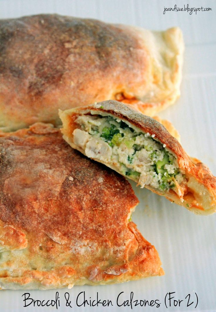 Jo and Sue: Broccoli & Chicken Calzones (For 2) - 350 calories, 8 fat ...