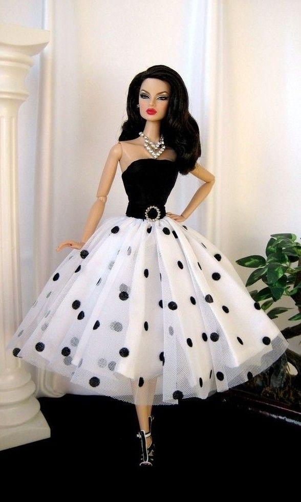 BArbie Polkha Dots NEt Dress