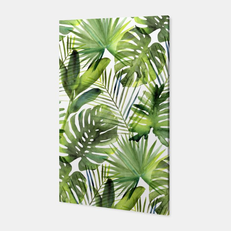 Tropical leaves Canvas, Live Heroes