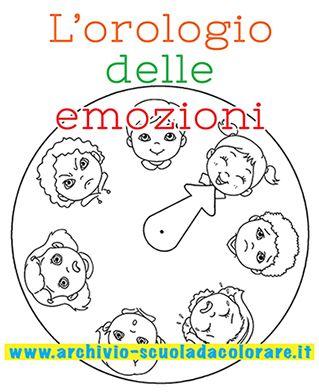 L'orologio delle emozioni da colorare: un'attività per insegnare ai vostri bambini ad interpretare e accettare i cambi di umore. Impara ad imparare. #sviluppocognitivo