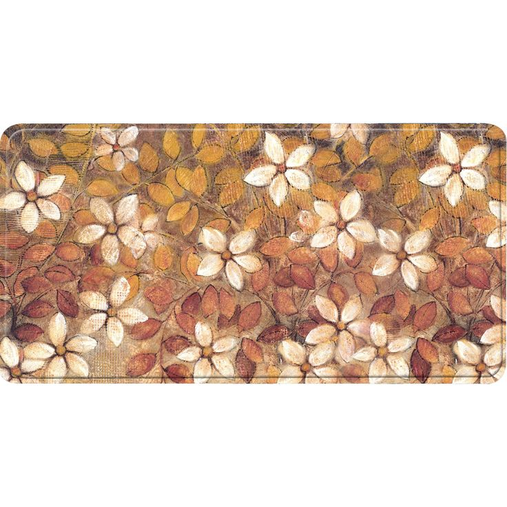 Home Dynamix Relaxed Chef Collection color/Orange Anti-fatigue Kitchen Mat