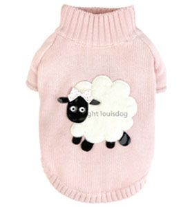 Designer Pet Knit Sweater 'Lambie Sweater Pink' Louis Dog. I love the lamb stuff!!