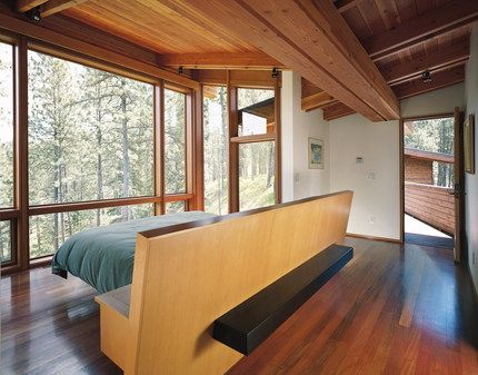 Ridge House - Olson Kundig Architects if i ever have a view like that i'll get that headboard but put a bench with table top shelves on either side on the back