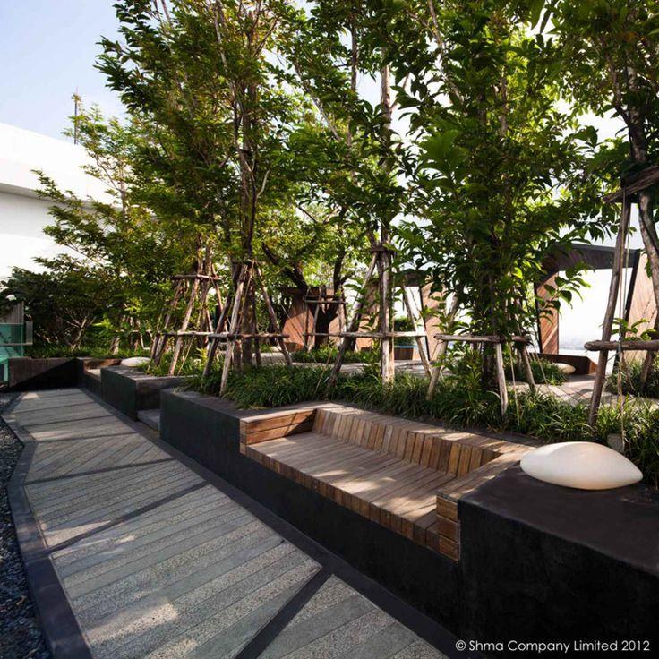 Life@Ladprao 18 Condominium Garden by Shma Design, Bangkok, Thailand