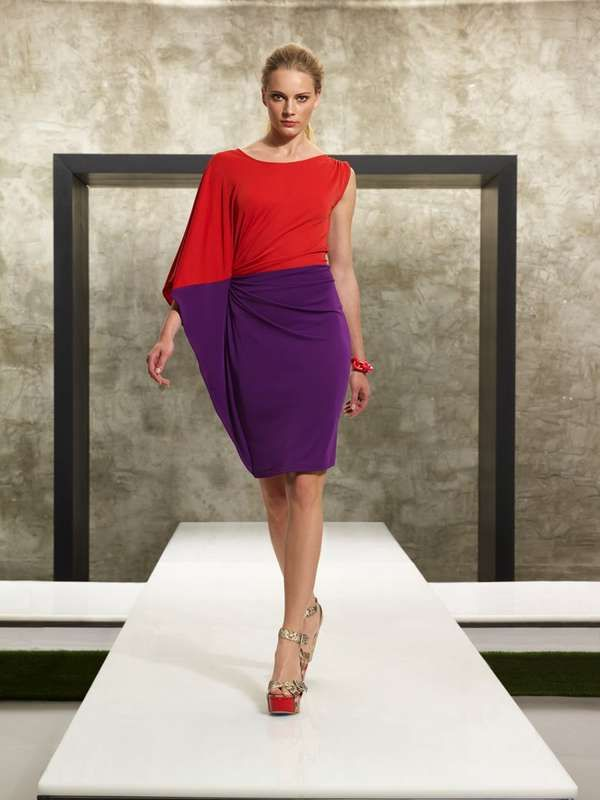 I just bought this Kenneth Cole color block dress yesterday and can't wait to wear it!!!!....looking for accessories now.