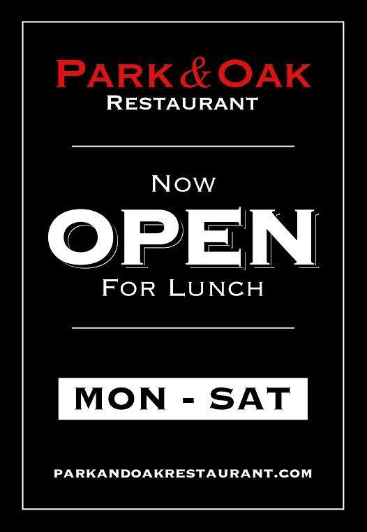 Park and Oak Restaurant | | West Hartford CT