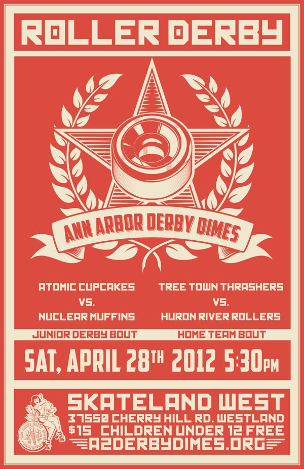 Roller Derby Bout Poster 4.28.12 on Behance