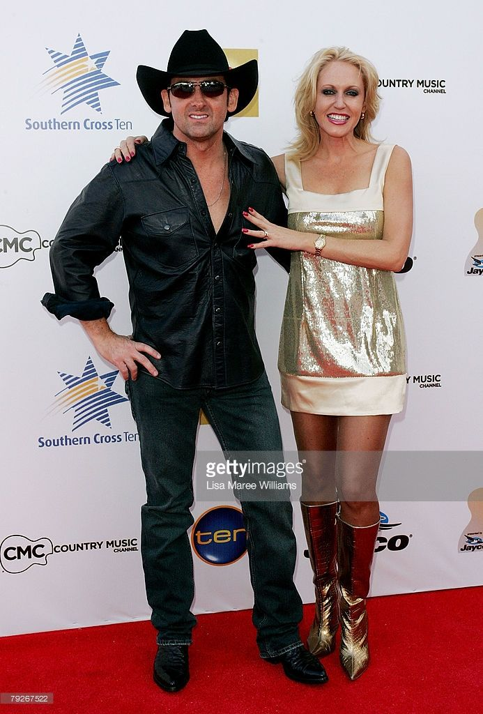 Australian of the Year Lee Kernaghan and wife Robbie arrive at the 36th CMAA Country Music