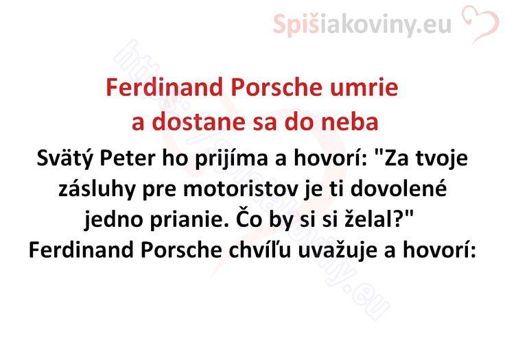 Ferdinand Porsche umrie a dostane sa do neba - Spišiakoviny.eu