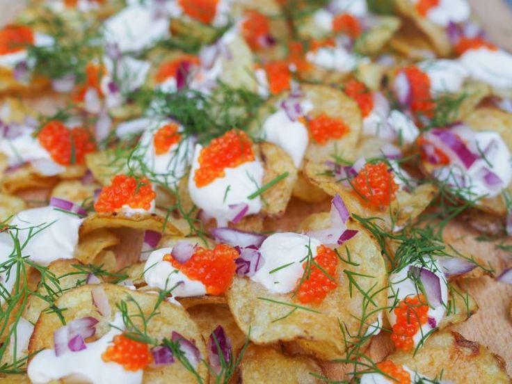 enkel förrätt med chips