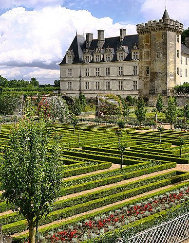 The Chateau Villandry is a castle-palace located in villandy, in the department of indeed-et-Loire, France.  The lands where an ancient fortress once stood were known as Colombier until the 17th century