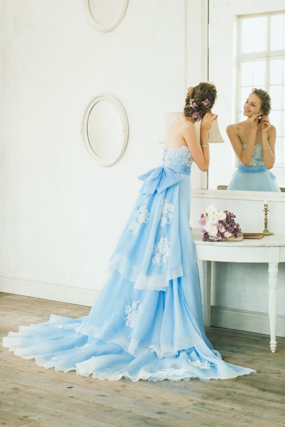 Blue wedding gown  カラードレス|BTNV171