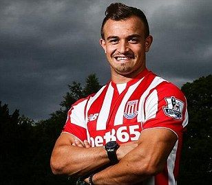 Xherdan Shaqiri signs for Stoke City in club record £12m deal from Inter Milan
