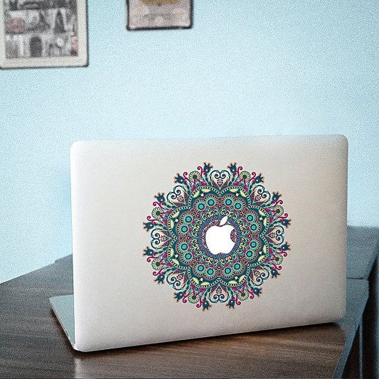 Flower MacBook decal Lid cover Macbook Pro skin Macbook Air Sticker 13137 ditantuanhua