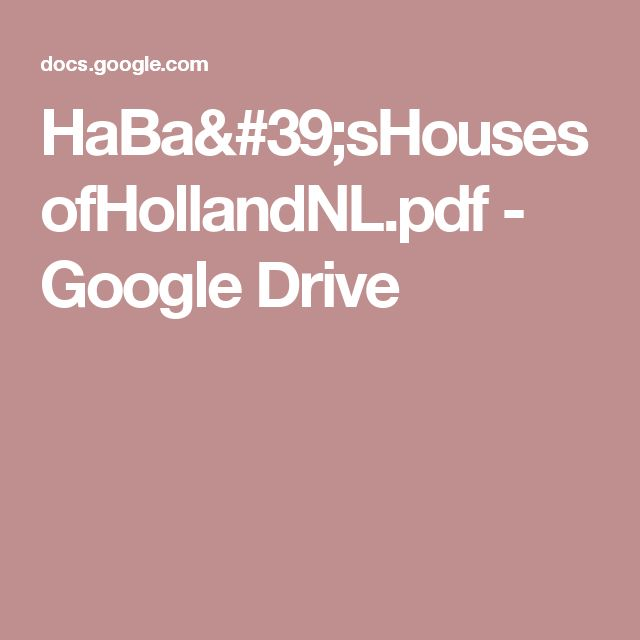 HaBa'sHousesofHollandNL.pdf - Google Drive